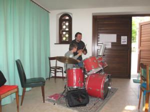 Lezione di batteria con il Maestro Raffaele Talliente
